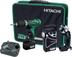 Винтоверт HITACHI KC10DHL 10.8V в комплект с радио и фенер