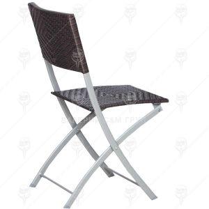 Сгъваем стол Herly с ратанова оплетка 53х47х82мм