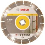 Диск диамантен за рязане на армиран бетон и стр.материали Bosch Standard for Universal 230x22.23mm