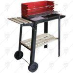 Барбекю на дървени въглища с 4 крака, рафт и шиш за печене HERLY HW801,84*34*88см